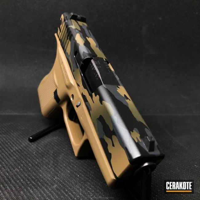 Cerakoted: 20150 E-190,MultiCam,Graphite Black H-146,Pistol,Glock,Mil Spec Green H-264
