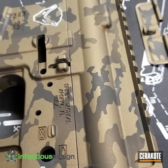 Cerakoted: MultiCam,Spike's Tactical,Graphite Black H-146,Burnt Bronze H-148,Tactical Rifle,Satin Aluminum H-151,Midnight Bronze H-294
