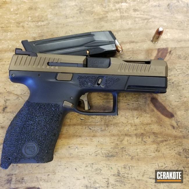 Cerakoted: CZ P10C,Graphite Black H-146,Burnt Bronze H-148,Pistol