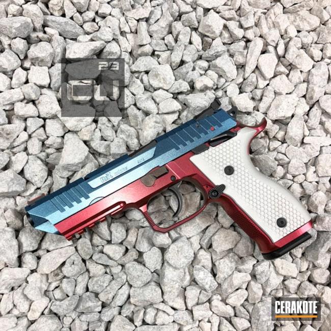 Cerakoted: Custom Mix,GunCandy Vulcan,Armor Black H-190,Pistol,Rex Alpha,Handguns,GunCandy Poseidon,Custom Cerakote,GunCandy