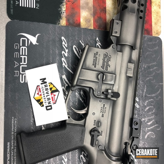 Cerakoted: Rifle,Windham Weaponry,Graphite Black H-146,Distressed,Tungsten H-237,Tactical Rifle,AR-15