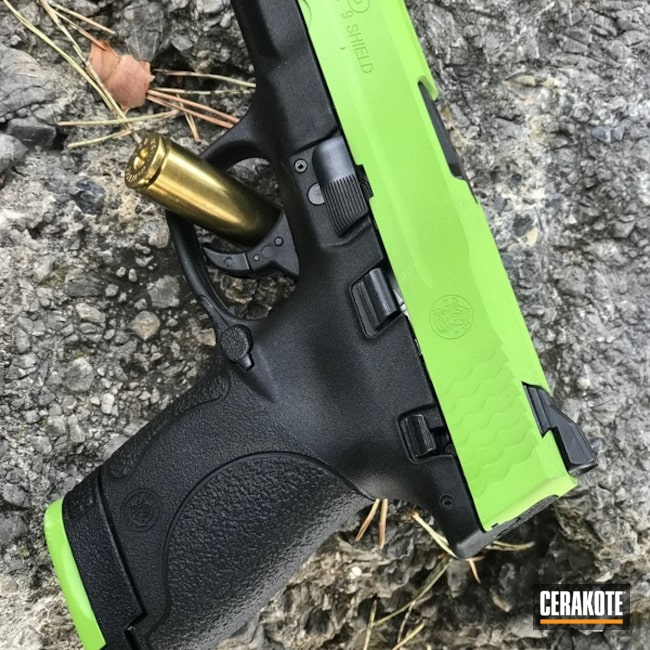 Smith & Wesson M&P Handgun done in H-168 Zombie Green