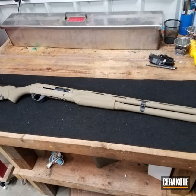 Cerakoted: Coyote Tan H-235,Shotgun
