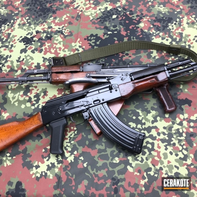 H-109 Gloss Black on this AK-47 Rifle