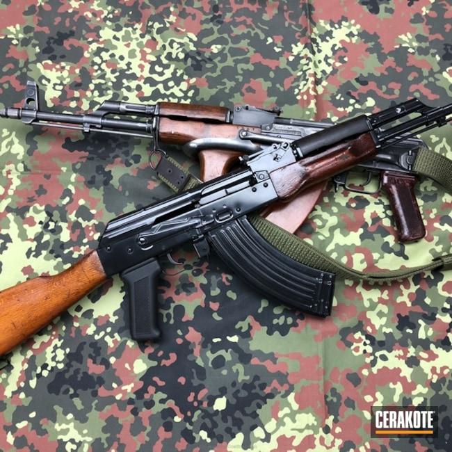 Cerakoted: Rifle,Gloss Black H-109,Tactical Rifle,AK-47,AKM,AK Rifle