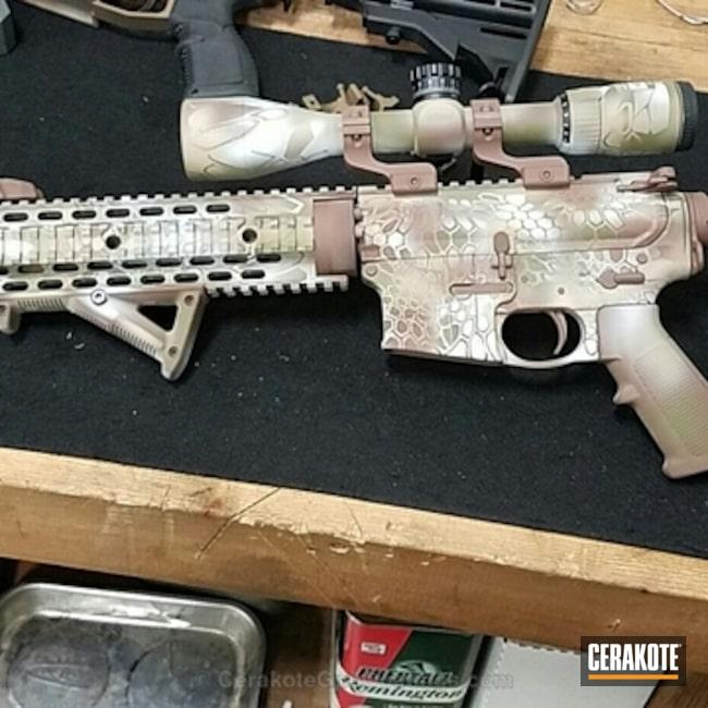 Cerakoted: Kryptek,Desert Sand H-199,Federal Brown H-212,Tactical Rifle,Noveske Bazooka Green H-189