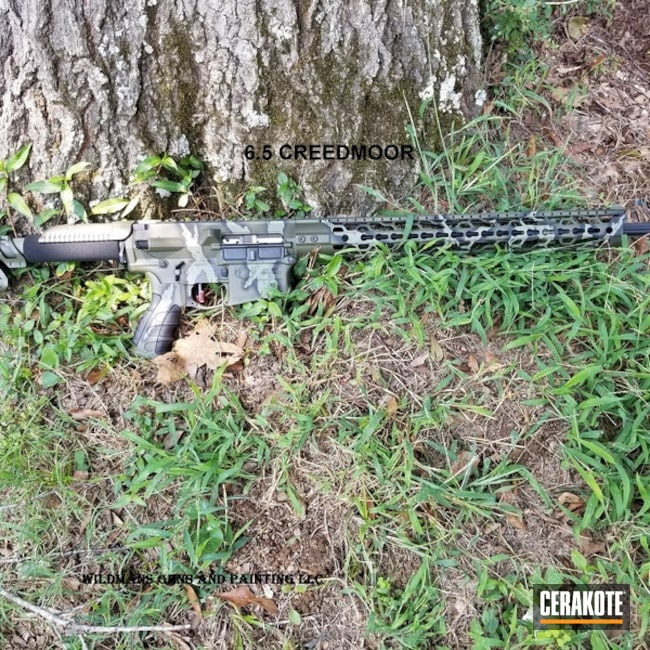 Cerakoted: Stag Arms,Mil Spec O.D. Green H-240,Camo,Armor Black H-190,Tactical Rifle,Forest Green H-248,Custom Camo