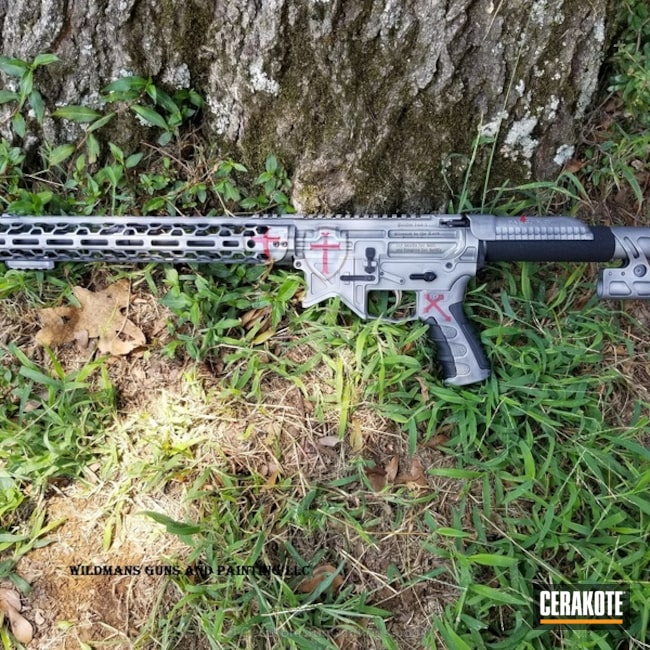 Cerakoted: Satin Mag H-147,FIREHOUSE RED H-216,Custom,Graphite Black H-146,Burnt Bronze H-148,Camo,Tactical Rifle,Falcon