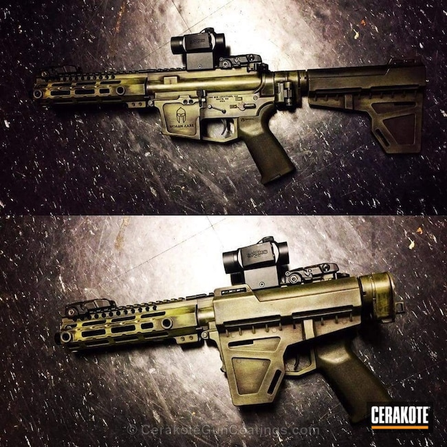 Cerakoted: Rifle,Custom Rifle,AR15 Builders Kit,Graphite Black H-146,Tactical Rifle,Noveske Bazooka Green H-189,AR Rifle,AR9,AR15 Parts