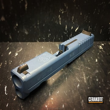 Cerakoted H-185 Blue Titanium On This Springfield Xd Slide