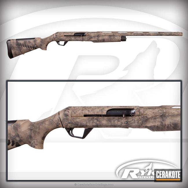 Cerakoted: Shotgun,Graphite Black H-146,Pathfinder,Benelli,12 Gauge,Flat Dark Earth H-265,Custom Camo