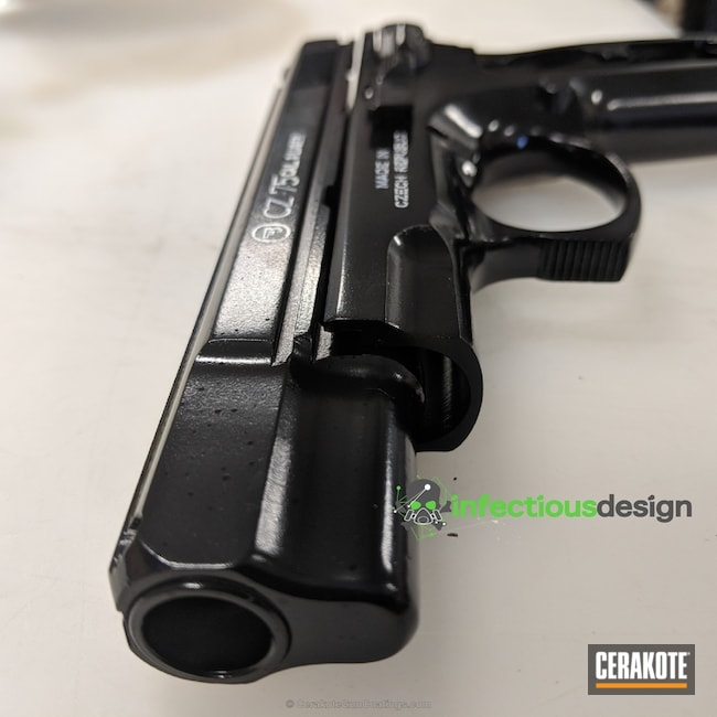 "Thumbnail image for project ""CZ 75 Handgun Cerakoted in Gloss Black and Stormtrooper White"""