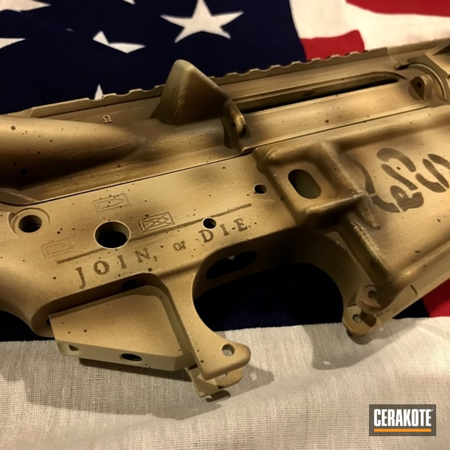 Cerakoted: Parchment,Join Or Die,Upper / Lower / Handguard,BENELLI® SAND H-143,Accutac Arms