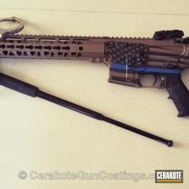 Cerakoted: NRA Blue H-171,MAGPUL® FLAT DARK EARTH H-267,Thin Blue Line,Graphite Black H-146,Tactical Rifle