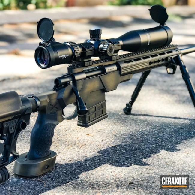 Cerakoted: Bolt Action Rifle,Battleworn,Graphite Black H-146,Distressed,Burnt Bronze H-148