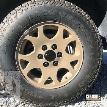 Cerakoted Custom Wheels Coated In C-246 Flat Dark Earth