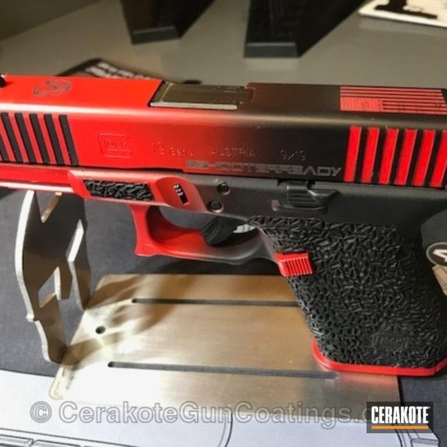 Cerakoted: Glock 19,Custom,Contrast,Armor Black H-190,Pistol,Glock,Serrations