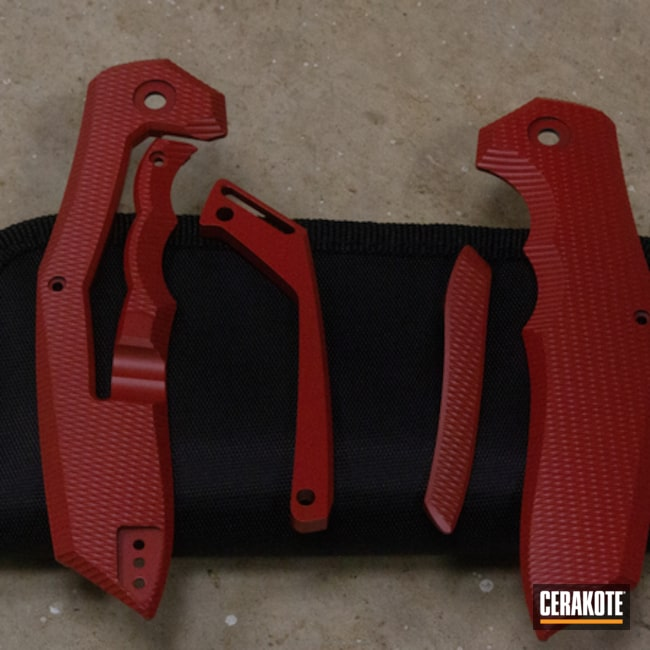 Cerakoted: FIREHOUSE RED H-216,Folding Knife,More Than Guns,Knives