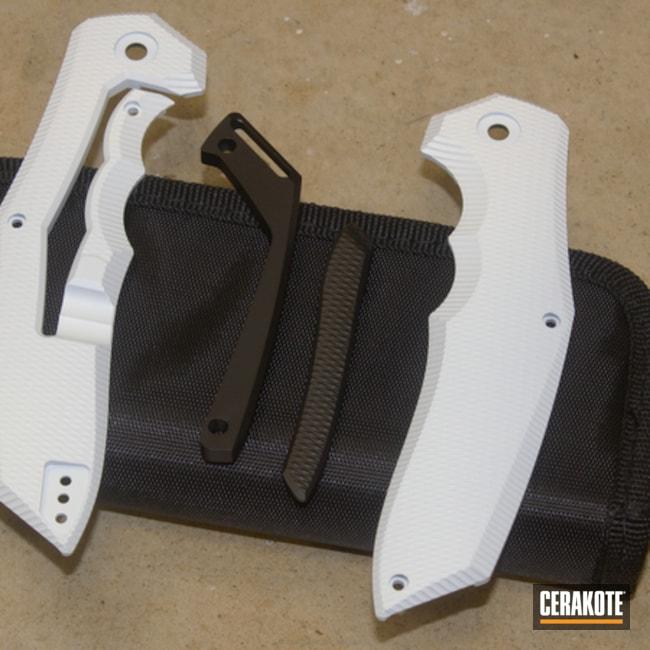Cerakoted: Snow White H-136,Graphite Black H-146,Folding Knife,More Than Guns,Knives