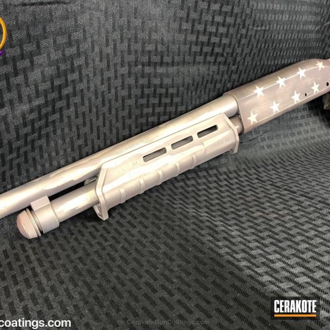 Cerakoted: Shotgun,Graphite Black H-146,Titanium H-170,Remington 870,Remington,Stars and Stripes