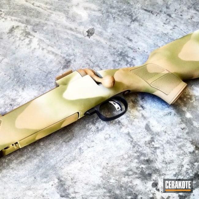 Cerakoted: Bolt Action Rifle,Savage Arms,Waves,Tactical Rifle,Noveske Bazooka Green H-189,Stencil,Sand Stone,Three Color Fade,Coyote Tan H-235,Hunting Rifle,DESERT VERDE H-256,Girls Gun,Ladies