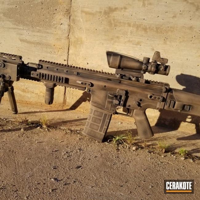 Cerakoted: FN Mfg.,SCAR,MAGPUL® FLAT DARK EARTH H-267,Graphite Black H-146,Distressed,SCAR 17,FNH,Trijicon,Surefire,RMR Optic