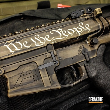 Cerakoted Wartorn We The People Themed Ar-10