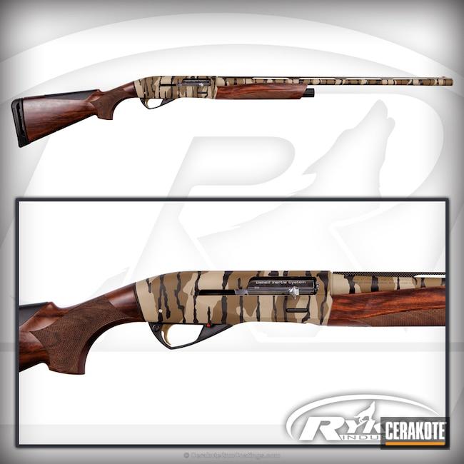 Cerakoted: Mossy Oak,Shotgun,Bottomland,Benelli Ethos,Graphite Black H-146,Benelli,28 Gauge
