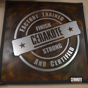 Cerakoted Wall Art Done In A Custom Cerakote Finish