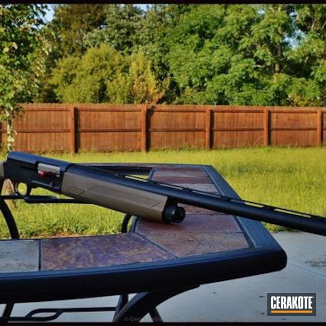 Cerakoted: Browning A5,MAGPUL® FLAT DARK EARTH H-267,Shotgun,Graphite Black H-146,Two Tone