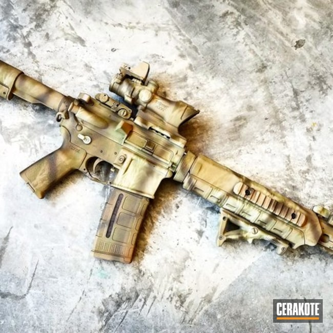 Tactical Rifle done in a Custom Camo Finish