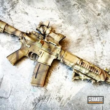 Cerakoted Tactical Rifle Done In A Custom Camo Finish