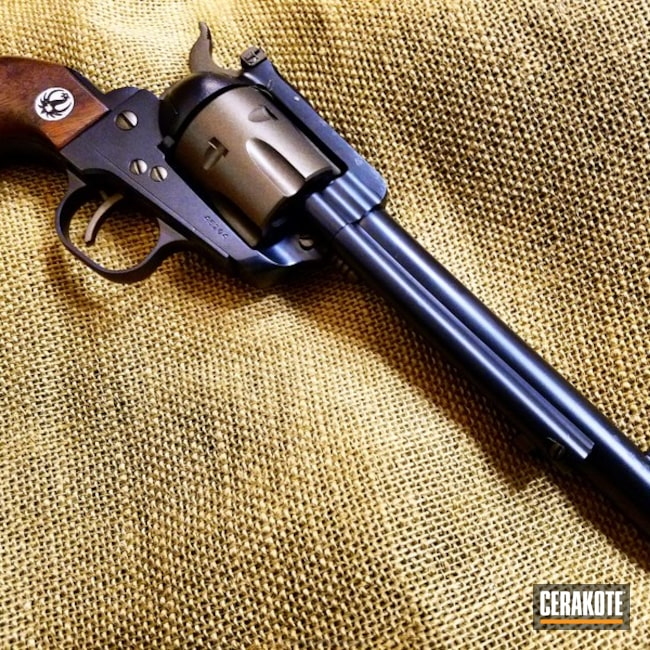 Cerakoted: Single-Action Revolver,Ruger,Cowboy Gun,Gloss Black H-109,Graphite Black H-146,Two Tone,Revolver,Restoration,Corrosion Protection,Burnt Bronze H-148,Daily Carry