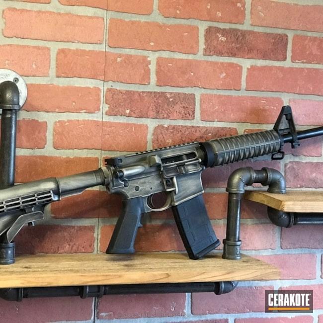 Cerakoted: Battleworn,Graphite Black H-146,Desert Sand H-199,Smith & Wesson,Tactical Rifle