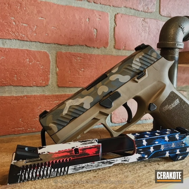 Sig Sauer P320 done in MultiCam and an American Flag Slide