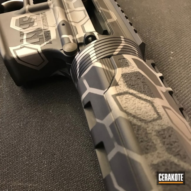 Cerakoted: Satin Mag H-147,Saint,Sniper Grey H-234,Kryptek,Graphite Black H-146,Tactical Rifle,Springfield Armory,SIG™ DARK GREY H-210