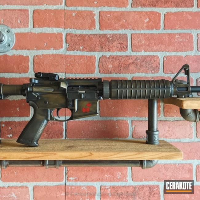 Cerakoted: FIREHOUSE RED H-216,Battleworn,Ruger,Graphite Black H-146,Burnt Bronze H-148,Tactical Rifle