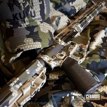 Cerakoted Tactical Rifle Done In Kuiu Camo