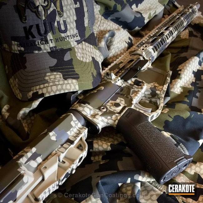 Cerakoted: No Dip Film,Kuiu Camo,HAZEL GREEN H-204,Desert Sand H-199,Tactical Rifle,2A Armament