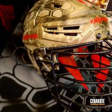 Cerakoted Custom Helmet Finished In A Kryptek Pattern