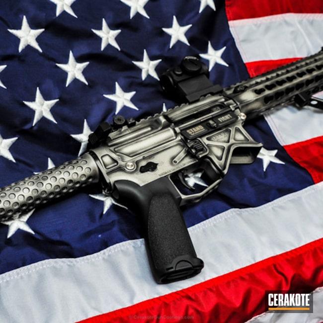Cerakoted: Battleworn,Distressed,Titanium H-170,Tactical Rifle