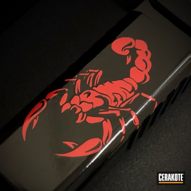 Cerakoted Scorpion Graphic on this Glock Slide