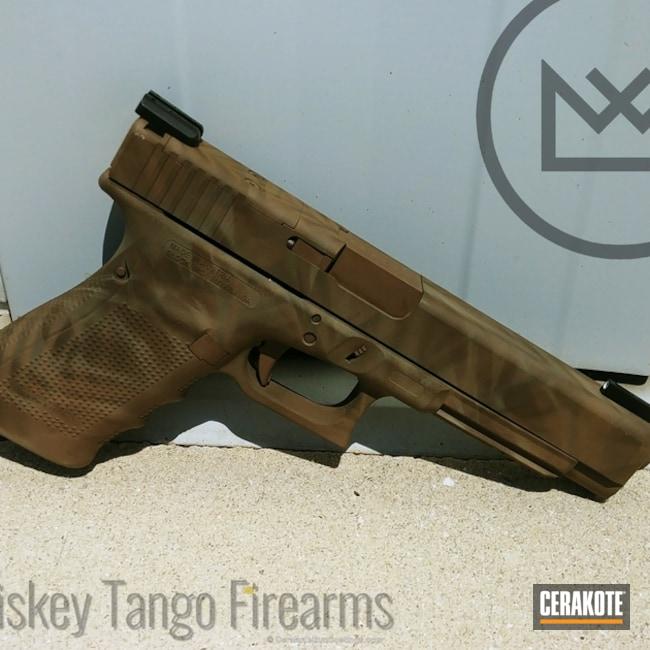 Cerakoted: Desert Sage H-247,MAGPUL® FLAT DARK EARTH H-267,Florida Brush Camo,Pistol,Glock,MAGPUL® FOLIAGE GREEN H-231