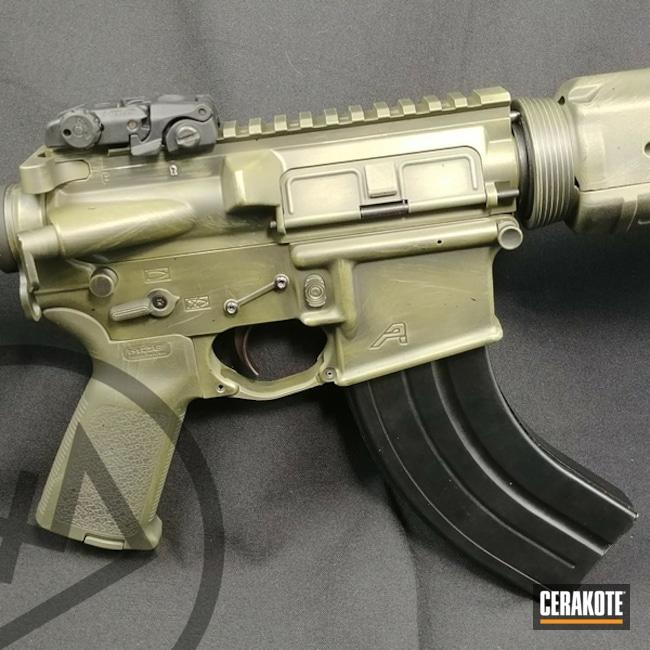 Cerakoted: Aero Precision,Graphite Black H-146,Distressed,Tactical Rifle,Noveske Bazooka Green H-189