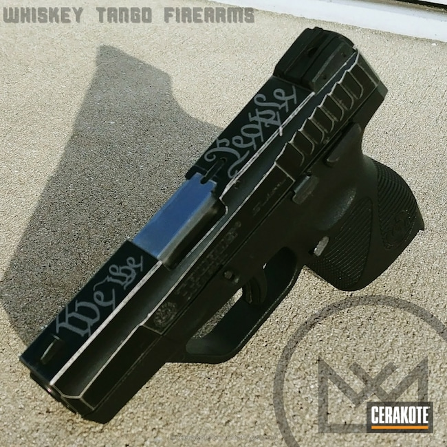 Cerakoted: Graphite Black H-146,Smith & Wesson,Titanium H-170,Pistol,We the people
