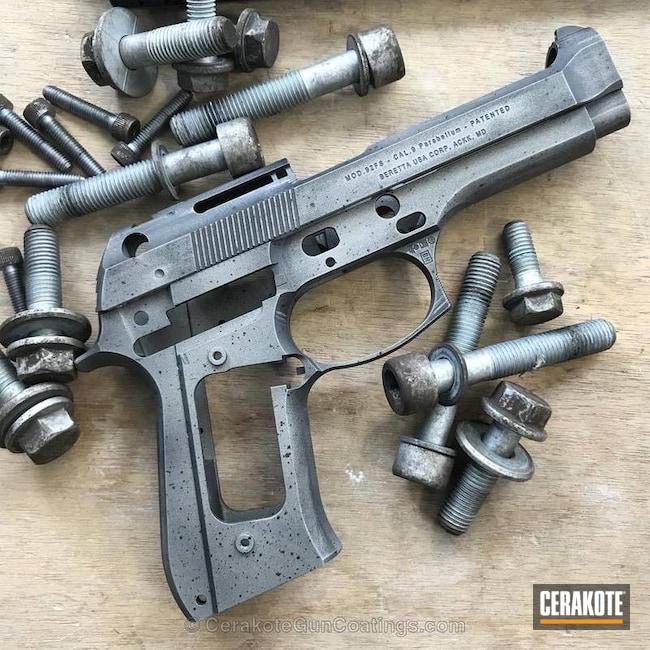 Cerakoted: Graphite Black H-146,Worn,Gun Metal Grey H-219,Gun Parts,Beretta