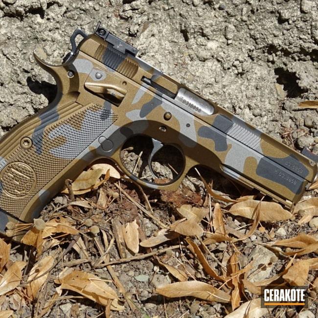Cerakoted: MultiCam,Tungsten H-237,Burnt Bronze H-148,CZ SP01,Pistol,CZ,Tactical Grey H-227