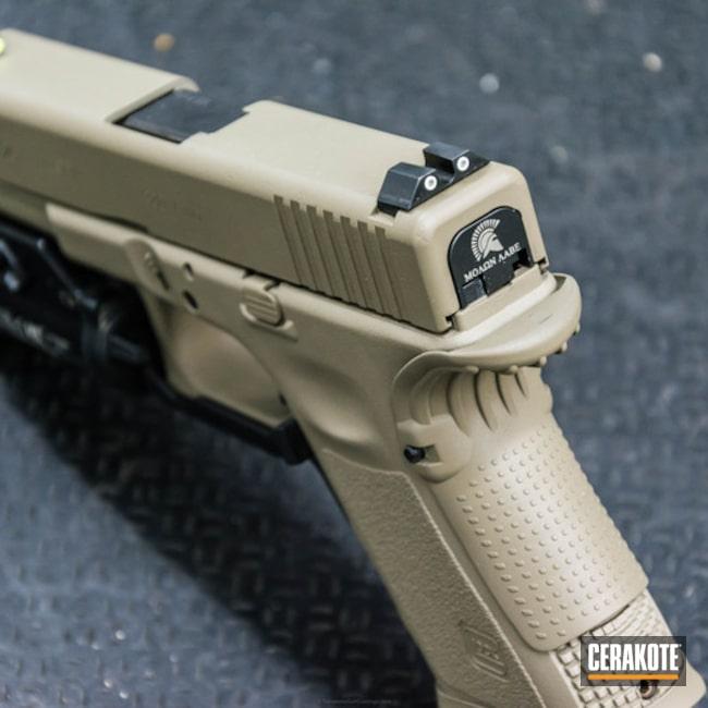 Cerakoted: Custom Mix,MAGPUL® FLAT DARK EARTH H-267,Desert Sand H-199,Pistol,Glock,Glock 25