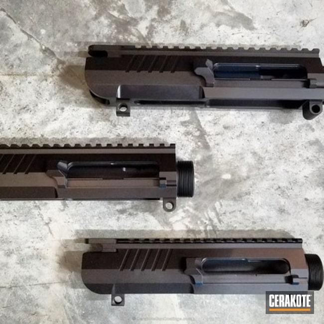 Cerakoted: Upper Receiver,Graphite Black H-146,Black Gold Custom Arms,AR-10,Gun Parts