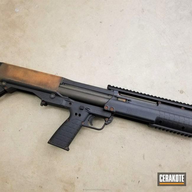 Cerakoted: Fighttherust,Shotgun,Graphite Black H-146,Keltec KSG,Kel-Tec,MAGPUL® FOLIAGE GREEN H-231
